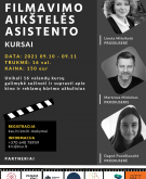 Dalinamės informacija apie kino industrijos edukacijos kursus
